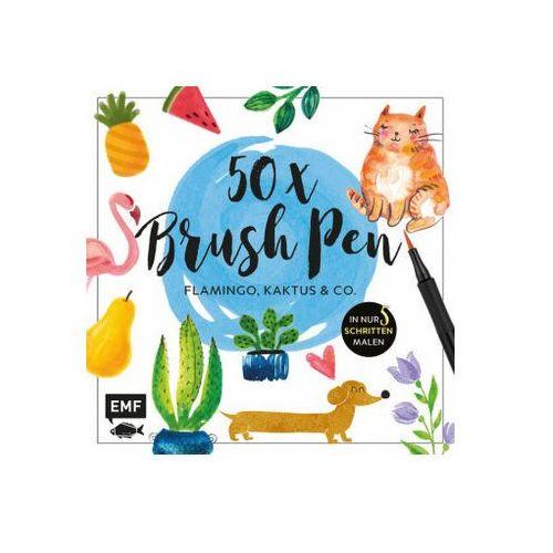 50 x Brush Pen - Flamingo, Kaktus und Co. Kaltenecker, Verena (9783960931577)