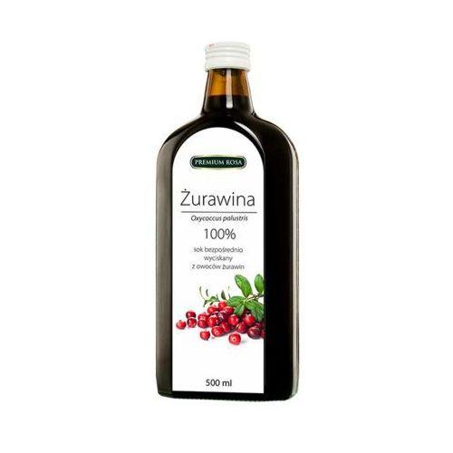 500ml sok żurawina 100% tłoczony na zimno marki Premium rosa