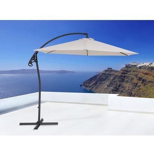 Parasol ogrodowy na wysięgniku – stojak metalowy – ø 290 cm - asti ii beżowy marki Beliani