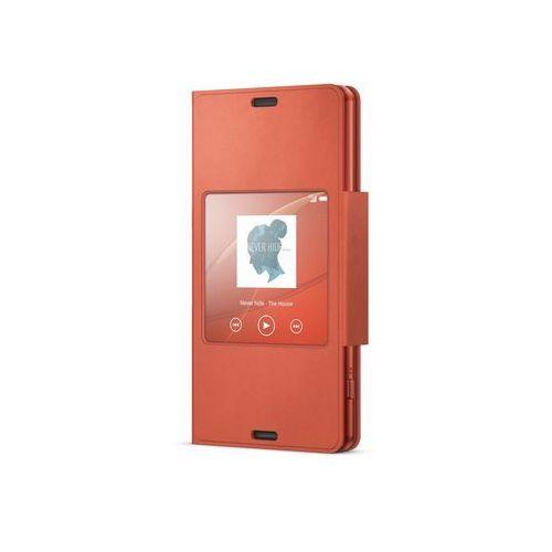 Etui SONY SCR26 do Xperia Z3 Copmact Pomarańczowy + DARMOWA DOSTAWA + Odbiór w 800 punktach Stacji z paczką!, kolor czerwony