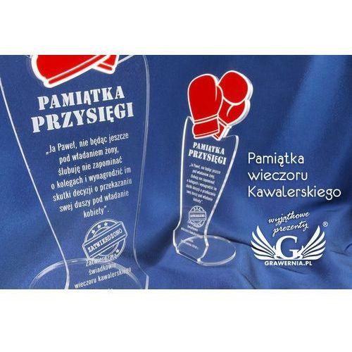 Pamiątka wieczoru kawalerskiego - rękawice bokserskie - model dta32 - wysokość 25 cm marki Grawernia.pl - grawerowanie i wycinanie laserem