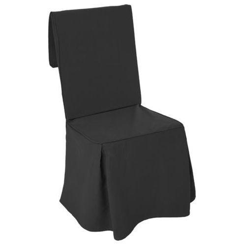 Bawełniany pokrowiec na krzesło, narzut na fotel, okazjonalny, czarny kolor (3560238998366)