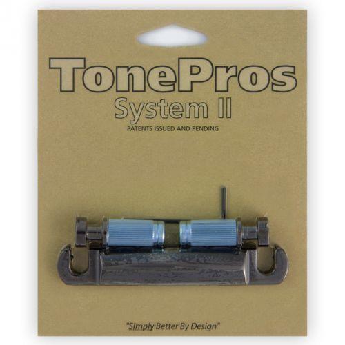 Tonepros t1zs-bc - tailpiece, części mostka do gitary, czarny chrom