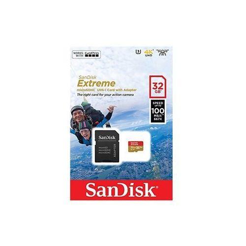 Karta pamięci SANDISK microSDHC Extreme 32GB 90MB/s C10 U3 V30, SDSQXAF-032G-GN6AA