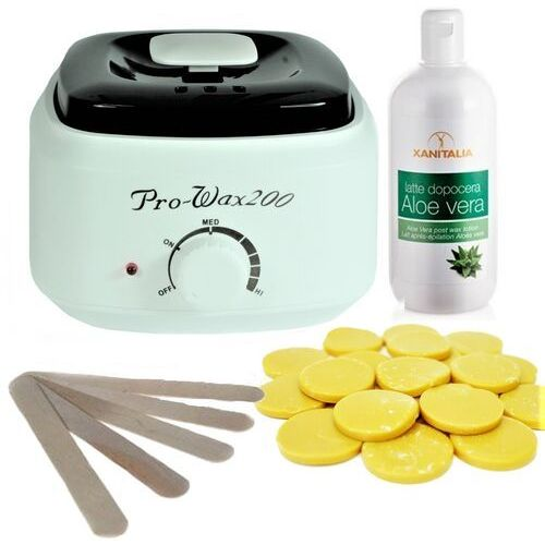 Zestaw do depilacji - sunny beach - podgrzewacz + wosk 1kg + balsam