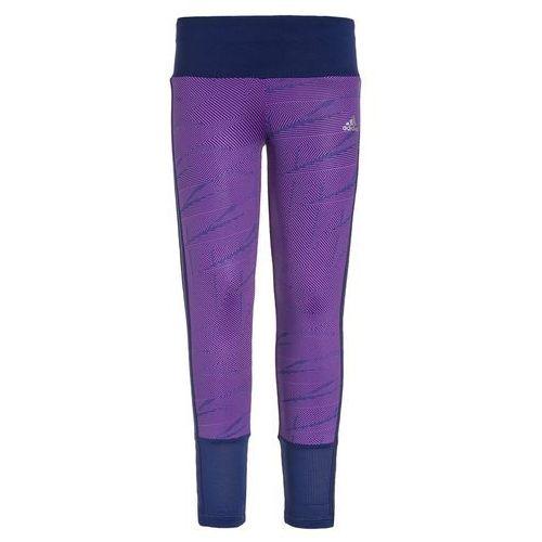 adidas Performance Legginsy shock purple/unity ink/metallic silver - produkt z kategorii- Legginsy dla dzieci