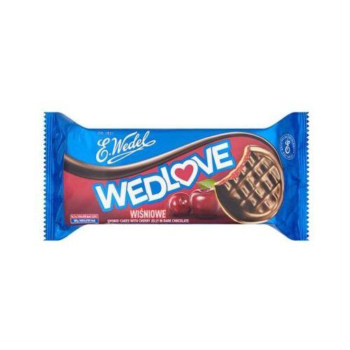 E. WEDEL 147g WedLove Wiśniowe biszkopty z galaretką owocową oblane czekoladą