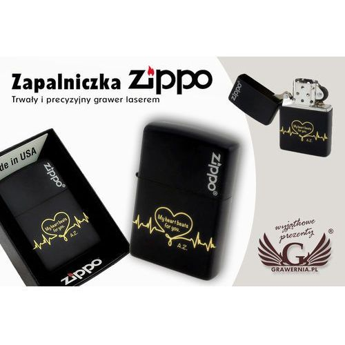 Zapalniczka ZIPPO Black Matte Logo