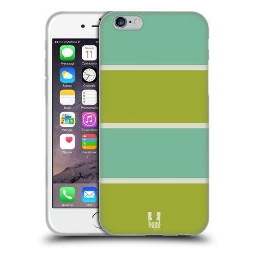Etui silikonowe na telefon - paski niebieskie i zielone marki Head case