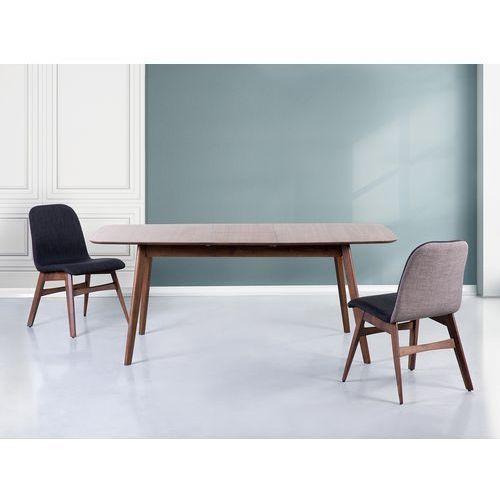 Stół brązowy - rozkładany - 150-190x90 cm - kuchenny - do jadalni - MADOX, Beliani z Beliani