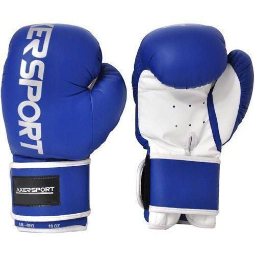 Rękawice bokserskie AXER SPORT A1330 Niebiesko-Biały (10 oz) + Zamów z DOSTAWĄ JUTRO!