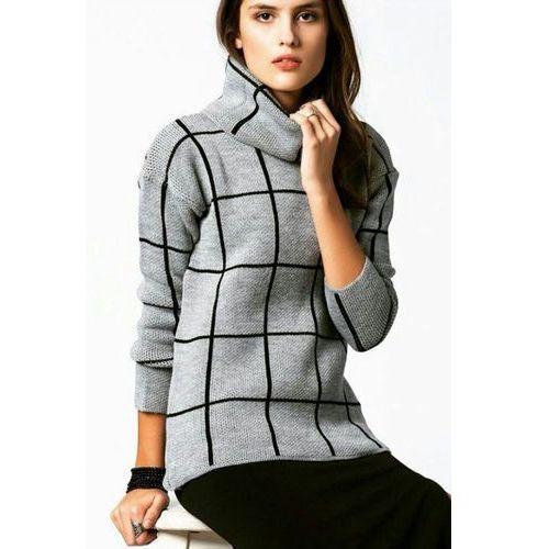 Damski sweter AMORA, kolor szary