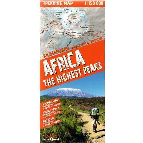 MAPA AFRICA THE HIGHEST PEAKS