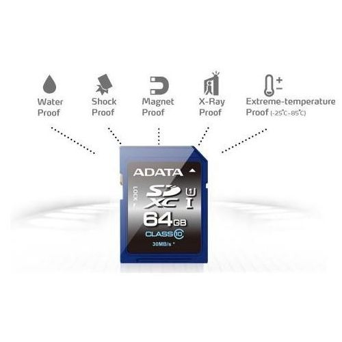 Karta pamięci sdxc 64gb class 10 (asdx64guicl10-r) darmowy odbiór w 21 miastach! marki Adata