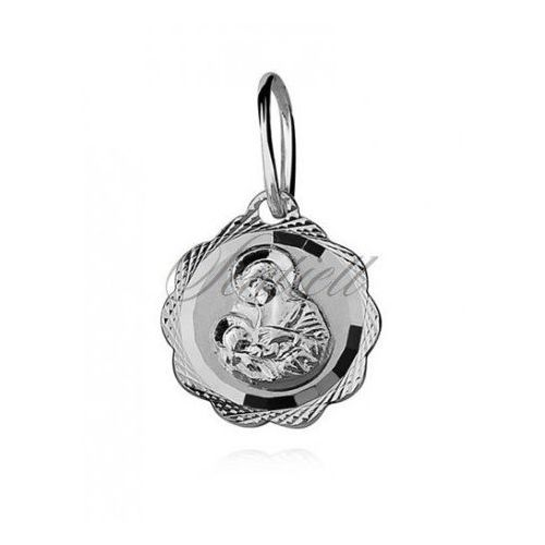 Silver (925) pendant diamond cut Blessed Virgin Mary / Saint Marry - GMD059