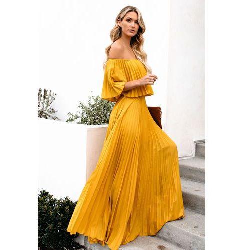 Sukienka LELA MUSTARD, kolor żółty