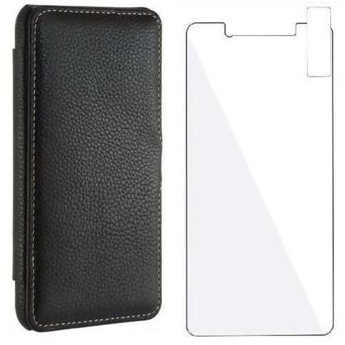 Zestaw | Stilgut UltraSlim Book Czarne | Etui z klapką typu książka dla modelu Huawei P8/P9 Lite 2017, kolor czarny
