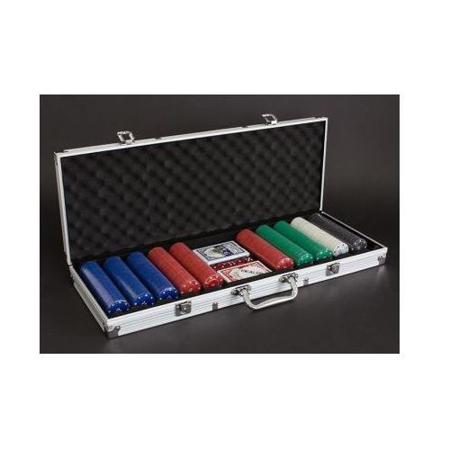 Zestaw do pokera...: 500 żetonów + kości + karty + kuferek... marki Creativehome