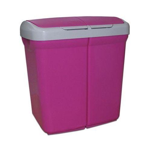 Kosz na śmieci Eco kosz Multispace Duo 50 różowy - produkt dostępny w twojekosze.pl