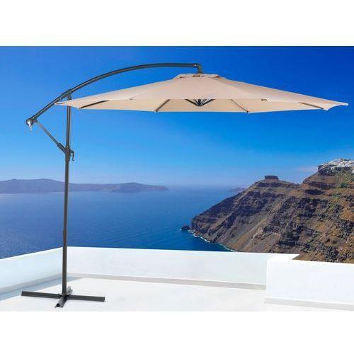 Parasol ogrodowy – mokka – ø 293 cm – na wysięgniku – metalowy - ravenna od producenta Beliani