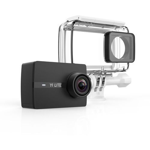 Xiaoyi technology Kamera sportowa yi lite action camera 4k czarny + obudowa wodoodporna