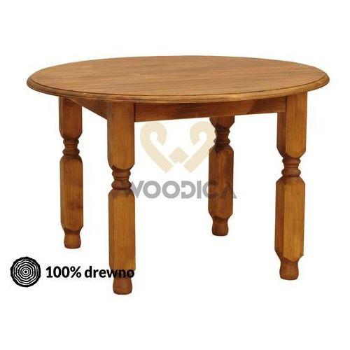 Stół okrągły hacienda [nogi proste lub toczone] 110x76 marki Woodica