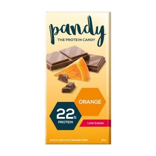 Pandy Protein - Czekolada Proteinowa bez dodatku cukru 80g - Pomarańczowa (7350000150636)