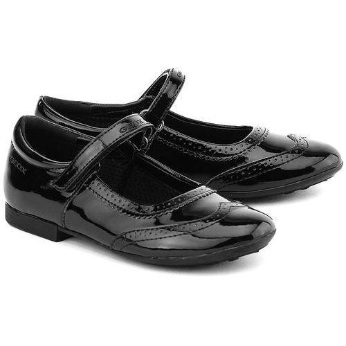 GEOX Junior Plie - Czarne Lakierowane Baleriny Dziecięce - J5455F 000HH C9999 - sprawdź w MIVO Shoes Shop On-line