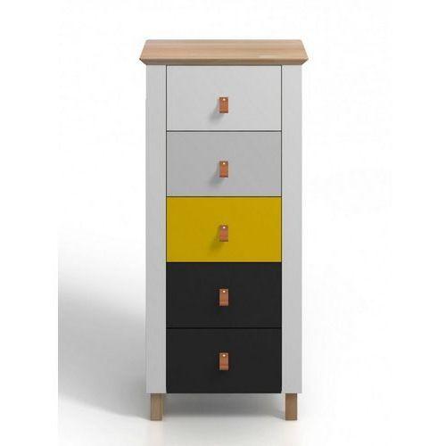Wysoka drewniana komoda z szufladami vaxholm 5s marki Skandica