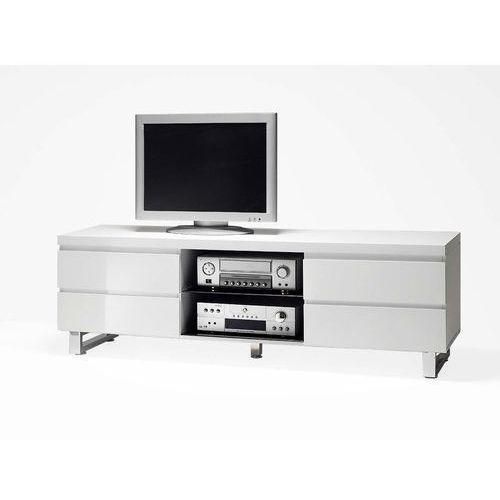 Sydney stolik rtv biały z szufladami 48901w marki Mc akcent