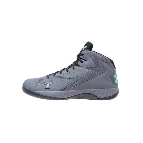 Under Armour LOCKDOWN Obuwie do koszykówki rhino gray/black/vapor green, 1269281