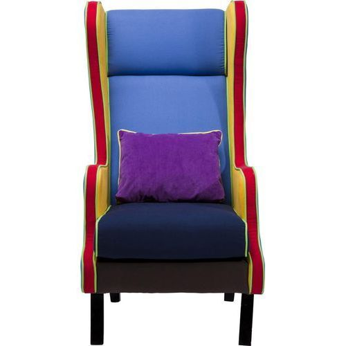 Bicolore Multi Fotel Wielokolorowy, Drewno Sosnowe Tkanina Skóra Ekologiczna - 78611, marki Kare Design do zakupu w sfmeble.pl