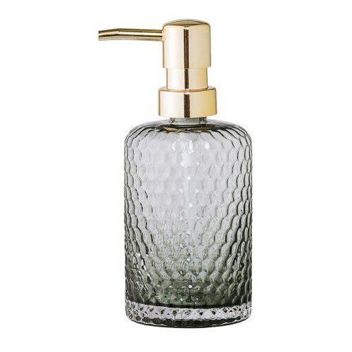 Bloomingville Dozownik do mydła, szare szkło, złoty -