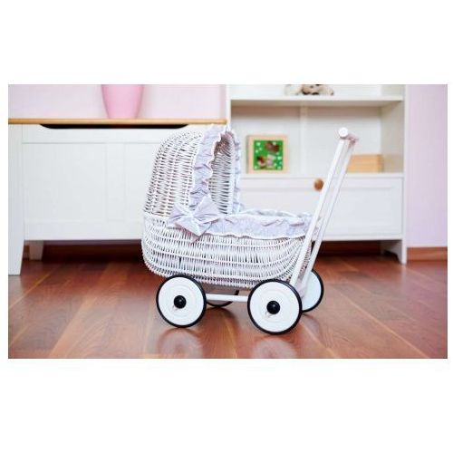 Wiklinowy Wózek dla Lalek, MY SWEET BABY, produkt marki My Sweet Baby