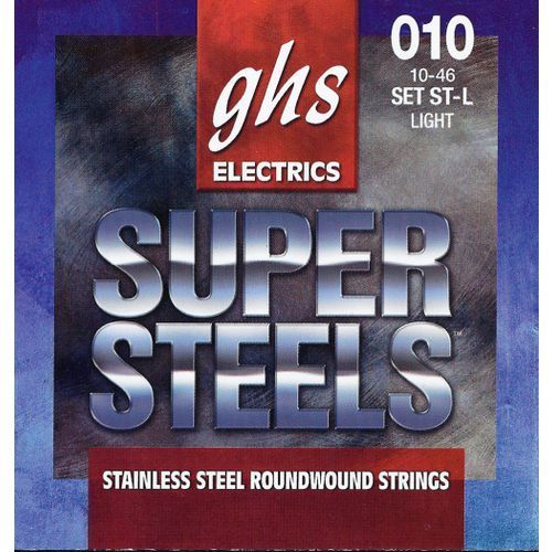 Ghs super steels struny do gitary elektrycznej, light,.010-.046