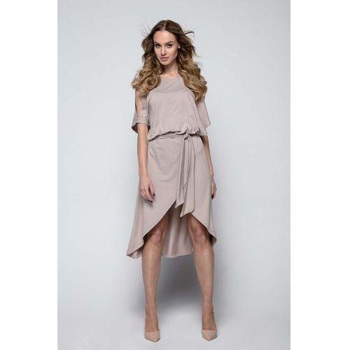 58db5a410c Mocca Sukienka Koktajlowa z Rozciętymi Rękawami 149