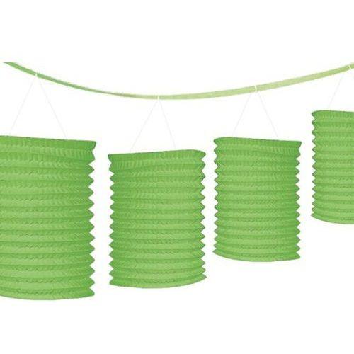 Amscan Dekoracyjna girlanda z lampionami - zielona 365 cm - 1 szt.