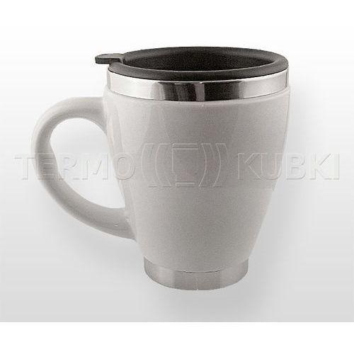 Ceramiczny kubek termiczny 450 ml CERIO (biały), CERIO