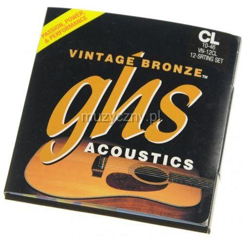 vintage bronze 12cl struny do gitary akustycznej dwunastostrunowej 10-46 marki Ghs