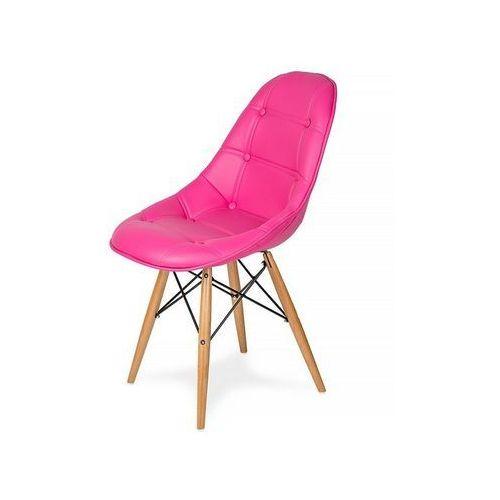 Krzesło EKO WOOD amarantowy T18 - ekoskóra, podstawa bukowa (5900000043746)