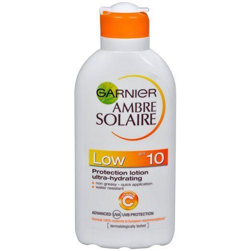 ambre solaire solarium lotion spf 10 (ochrona mleczko nawilżające ultra) 200 ml marki Garnier