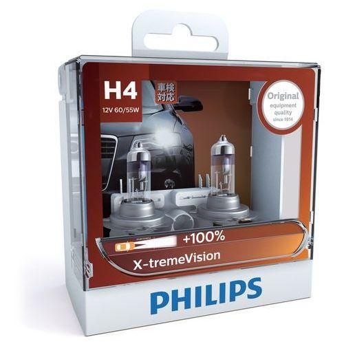 Zestaw 2x żarówka samochodowa x-tremevision 12342xv+s2 h4 p43t-38/60w/55w/12v marki Philips