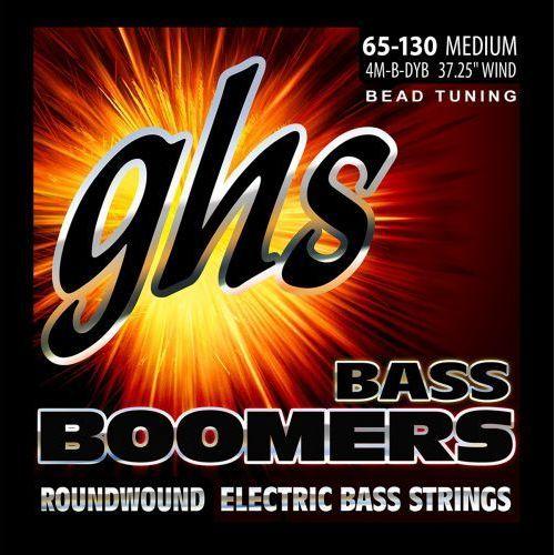 Ghs bass boomers struny do gitary basowej 4-str. medium,.065-.130, bead tuning