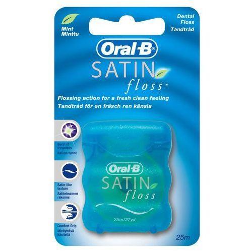 ORAL-B Satin Floss - Nić dentystyczna miętowa, odporna na strzępienie, rozciąganie i zrywanie 25m, 95