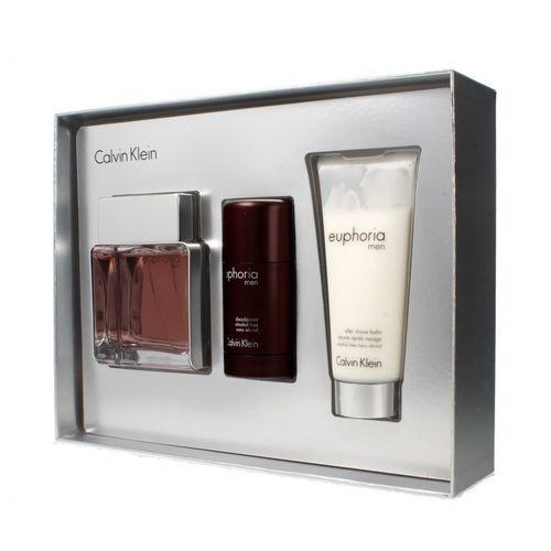 Calvin Klein Euphoria Men zestaw EDT 100 ml + balsam p/g 100 ml + dezodorant sztyft 75 g