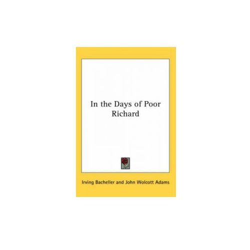 In the Days of Poor Richard (9780766198852)