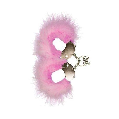 Adrien lastic Śmieszna zabawka-kadanki - metallic handcuffs,feather cov.. pink (8433345303017)