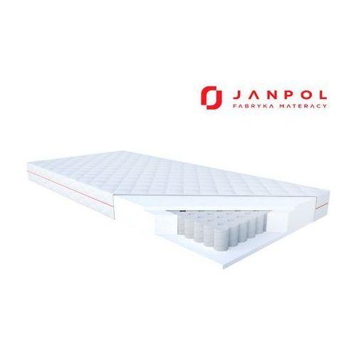 Janpol klio - materac kieszeniowy, sprężynowy, rozmiar - 160x200, pokrowiec - jersey standard wyprzedaż, wysyłka gratis (5906267039775)