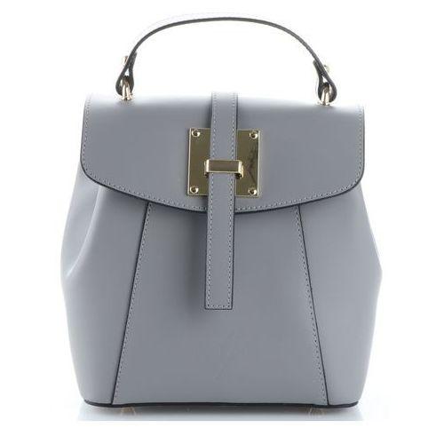 8d441eaa8afda Eleganckie włoskie torebki skórzane firmowe plecaczki damskie szare  (kolory) marki Vittoria gotti 279