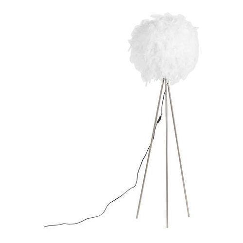 Qazqa Romantyczna lampa stojąca biała - pióro
